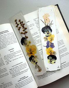 PRESSED FLOWER Bookmarks Set of 2 Original by MyHumbleJumble