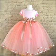 Vintage Pink Princess Flower Girl Tutu and by TutusChicBoutique
