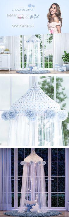 39ba9335533e8 A Tenda Dossel da coleção Chuva de Amor Azul, da nova coleção Sabrina Sato  Mom é uma peça maravilhosa para o seu príncipe ter um cantinho ...