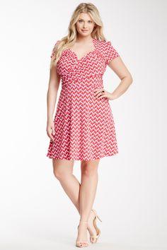 Leota | Leota Printed Surplice Neck Dress (Plus Size) | Nordstrom Rack