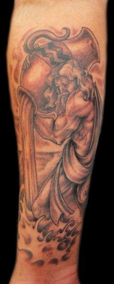 water bearer tattoo | More Tattoo Images Under: Aquarius Tattoos