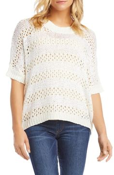 Shop a great selection of Karen Kane Crochet Short Sleeve Sweater. Find new offer and Similar products for Karen Kane Crochet Short Sleeve Sweater. Hand Crochet, Crochet Top, Karen Kane, Crochet Patterns For Beginners, Baby Blanket Crochet, Sweater Fashion, Sweater Weather, Sweaters For Women, Tops