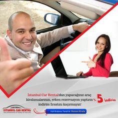 Erken Rezervasyonlarda %5 İNDİRİM  İstanbul Car Rental ile Araç kiralayanlar çok şanslı..Sizde şimdi hemen rezervasyonunuzu yapın bu avantajı kaçırmayın. Destek: +90 216 611 81 88   Güvenle Kiralayın! www.istanbulcarrental.de Whatsapp: +90 542 476 13 45  http://www.sabihagokcenrentacar.de http://www.istanbularabakiralama.de  #araçkiralama #istanbularabakiralama #istanbulcarrental