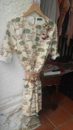 Vestido 100% algodón con adornos confeccionados en por locapormi