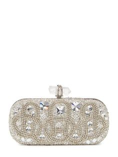 Classic Lily Embellished Clutch by Marchesa at Gilt