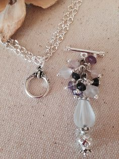 Frosted Glass Beaded Dangle Necklace. One Chains so many options. Many Dangles Available.