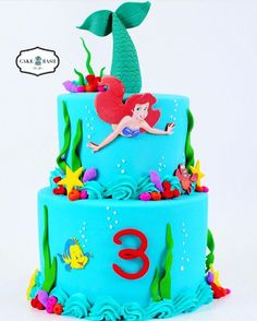 Ariel's Cake. The Little Mermaid theme Cake by Cake Bash Studio & Bakery, Sherman Oaks