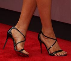 After giving birth to her second son in February, Megan Fox is serious in making a huge comeback! Sexy Legs And Heels, Sexy High Heels, Strappy Heels, Megan Fox Legs, Fox Shoes, Shoe City, Talons Sexy, Christian Louboutin Sandals, Cinderella Shoes