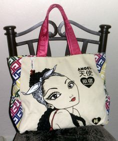 Harajuku Lovers/Gwen Stefani Angel/Fatal Attraction XL Shoulder Bag/Purse/Tote