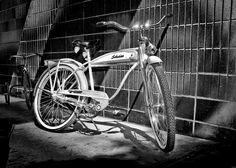 1949 Schwinn Deluxe Hornet.  Shot outside my store in Provo.