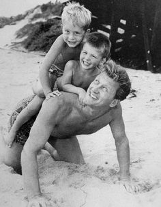 Kirk Douglas with sons Michael & Joel
