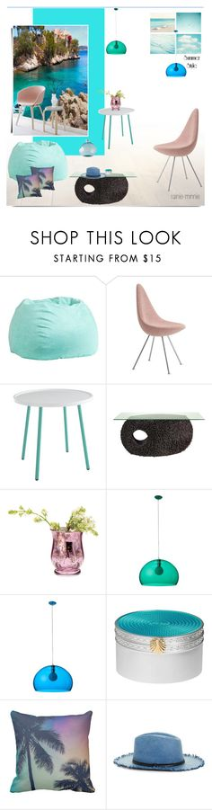 """""""Summer in the house"""" by rainie-minnie ❤ liked on Polyvore featuring interior, interiors, interior design, home, home decor, interior decorating, PBteen, Dot & Bo, Kartell and Wedgwood"""