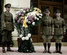Three survivors of Beaumont Hamel attending the dedication of the tomb of the unknown soldier in Washington DC in 1919. https://www.facebook.com/thephotomenders/photos/pb.232431060281946.-2207520000.1424964483./347078785483839/?type=3