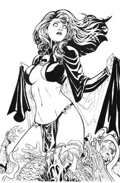 Black And White Comics, Black And White Sketches, Black White Art, Comic Book Pages, Comic Books Art, Book Art, Marvel Coloring, Adult Coloring, Female Comic Characters