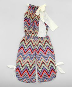 Love this Pink & Blue Zigzag Jumpsuit - Toddler & Girls on #zulily! #zulilyfinds
