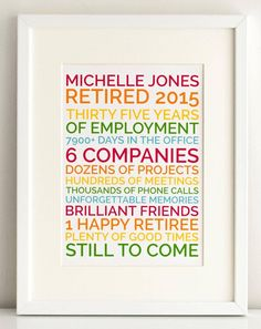 personalized retirement gift poster