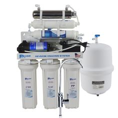 Under-Sink Reverse Osmosis Drinking Water Filtration System with Remineralization Filter and UV Sterlizer - 50 GPD Alkaline Water Filter, Drinking Water Filter, Water Filters, Reverse Osmosis Water Filter, Reverse Osmosis System, Ro Water Purifier, Water Filtration System, Ionised Water, Inline Water Filter