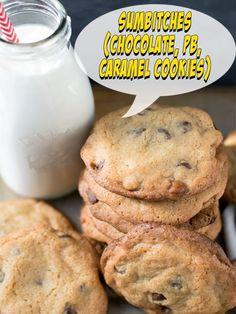 Sumbitches (Chocolate, PB, Caramel Cookies)