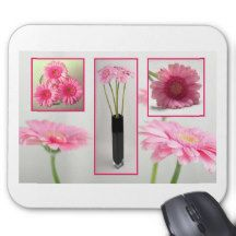 Gerbera Collage Mouse Pad
