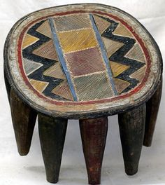 Nupe stool, Nigeria Size: 16.5 x 16 x 12.5 inches