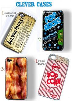 Clever Food Phone cases!
