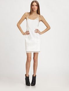 White cut-out dress.  Love it!