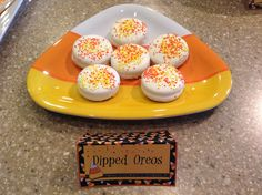 candy corn party dipped oreos