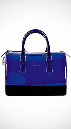 G133 44.50 GBP DESCRIPTION OF BLUE/BLACK JELLY BAG : Blue/black jelly candy bag with zipper closure and changeable strap.