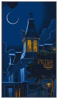 """Peter Pan (Peter and Wendy)"" by Laurent Durieux. (vía durieux-Peter-Pan-Peter-and-Wendy. Disney Pixar, Disney E Dreamworks, Art Disney, Disney Kunst, Disney Love, Disney Magic, Disney Songs, Disney Quotes, Disney Characters"