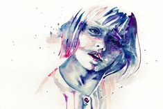 Watercolor Paintings by Agnes Cecile   Pondly