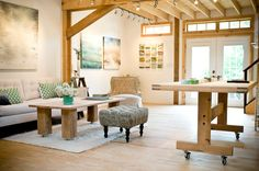 Apartment Therapy: Artist's Barn House-living room