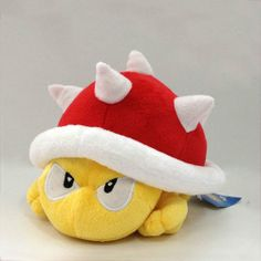 "Super Mario Bros Plush Spiny Koopa 4"" Soft Toy Stuffed Animal Doll Teddy"