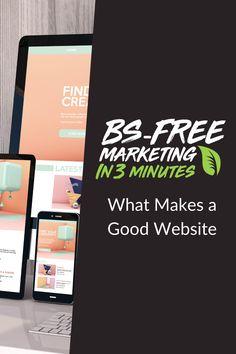 BS Free Marketing - What Makes a Good Website Social Media Marketing Agency, Digital Marketing, Improve Yourself, Finding Yourself, Free Market, Ecommerce, Online Business, Online Shopping, Rest