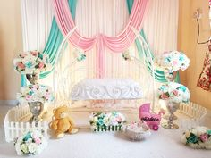 Pipe And Drape Backdrop, Cradle Ceremony, Naming Ceremony, Indian Wedding Decorations, Baby Boy Shower, Baby Names, Backdrops, Birthday Cake, Receptions