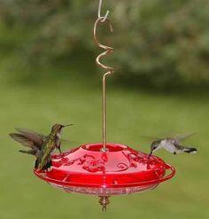 Hummingbird Feeder HummZinger Fancy Red 12 oz Free Shipping #Aspects
