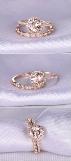How Are Vintage Diamond Engagement Rings Not The Same As Modern Rings? If you're deciding from a vintage or modern diamond engagement ring, there's a great deal to consider. Rose Gold Engagement Ring, Vintage Engagement Rings, Wedding Engagement, Wedding Bands, Oval Engagement, Brillant Earth Engagement Rings, Wedding Ring Set, Engagement Jewellery, Popular Engagement Rings