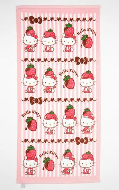 Supercute #HelloKitty, strawberries and chocolate towel - just a few of our favorite things!