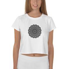 Perfect Print Crop Tee 'I am strong enough' Mandala T-shirt Top Gift
