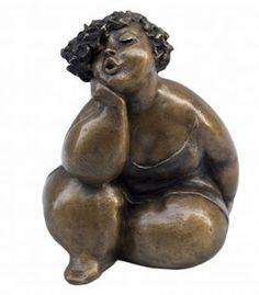 """""""Gabrielle"""" bronze sculpture 8"""" x 6"""" x 6"""" by artist Rose-Aimée Bélanger Contact Galerie Saint Dizier for more information or visit www.saintdizier.com"""