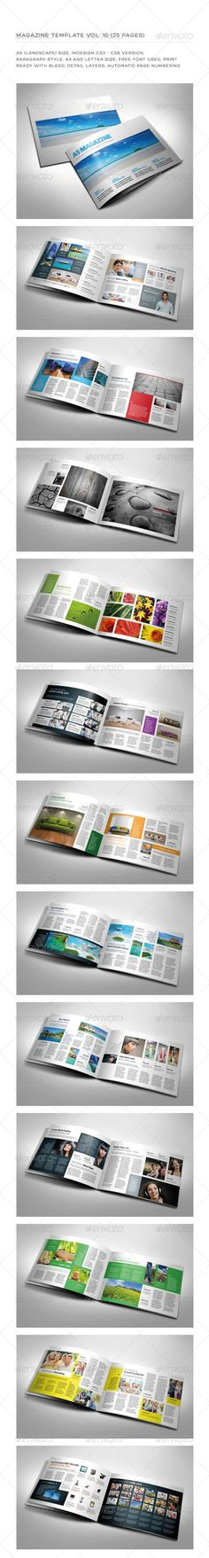 Newsletter Vol. 9 – Indesign Template #Graphicriver Newsletter Vol