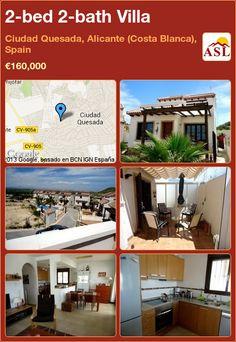 2-bed 2-bath Villa in Ciudad Quesada, Alicante (Costa Blanca), Spain ►€160,000 #PropertyForSaleInSpain
