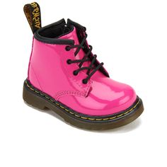 Dr. Martens Toddlers' Brooklee B Patent Leather Boots - Hot Pink: Image 2