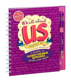 Klutz It's All About Us: A Journal of Totally Personal Questions for You & Your Friends Craft Kit, a book by Karen Phillips The Wea, Valentine Gifts For Kids, Friend Crafts, Personal Questions, My Journal, Ballpoint Pen, Craft Kits, This Is Us, Activities