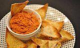 Muhammara: Roasted Bell Pepper Walnut Dip With Homemade Pita Chips/popsugar