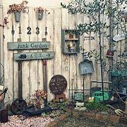 nachuの人気のインテリア実例 Garden Junk, Garden Shop, Dream Garden, Rustic Gardens, Unique Gardens, Outdoor Gardens, Garden Paths, Garden Art, Plant Design