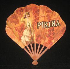 Vintage Pikina Paper Fan on Collectors Quest