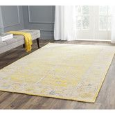 Found it at AllModern - Stone Wash Yellow Rug
