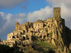 Craco, Matera, Basilicata in Italy  Craco is an abandoned commune and medieval village located in the Region of Basilicata and the Province of Matera in Italy. It was abandoned in 1963 due to earthquake activity.