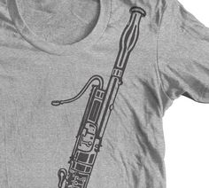 BASSOON INSTRUMENT t shirt. Great Gift for a Musician. Band Tee. GoWithMusic Orchestra Bassoon Player. by goWithMusic on Etsy