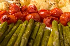 Roasted Asparagus and Tomatoes